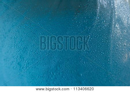 Weeping Of Water On Bottle Surface