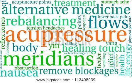 Acupressure Word Cloud
