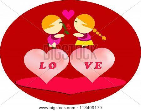 Love Couple In Valentine Day