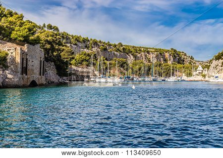 Boats In Calanque - Inlet Near Cassis, France