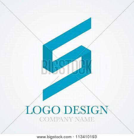 Vector illustration logo letter s