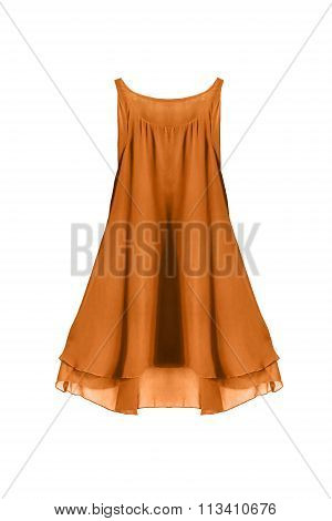 Yellow Dress Isolated