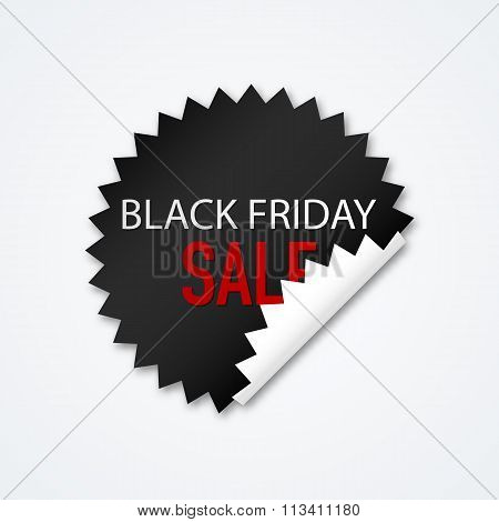 Vector illustration Sticker Black Friday discounts