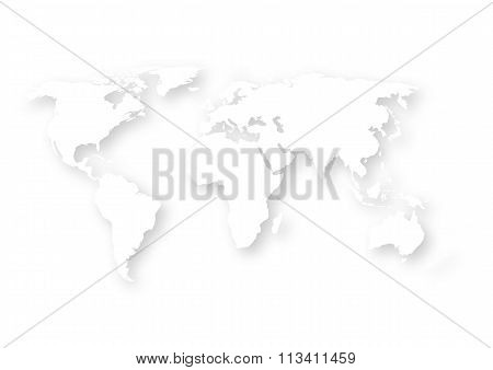 Vector illustration of a paper map the world