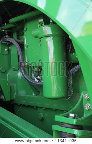 The New Engine Tractor. Agricultural Machinery