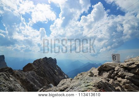 On top of the Zugspitze