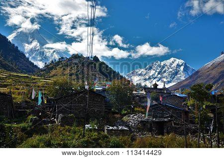 Old village on the Manaslu-trek