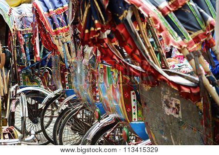 Close-up rickshaws