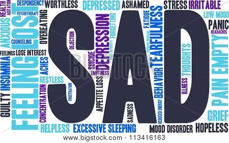 Sad Word Cloud
