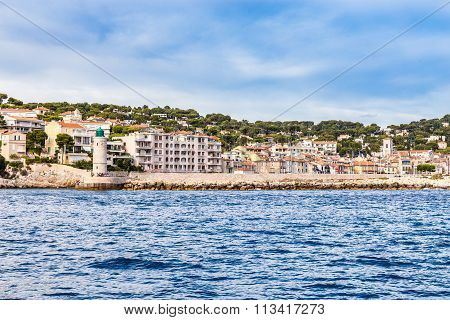 Buildings On The Coastline In Cassis,france
