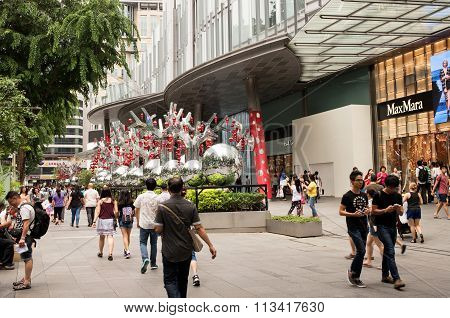 christmas Decoration On Orchard Road In Singapore