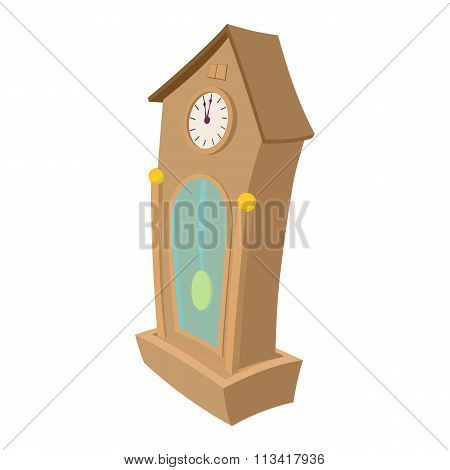 Clock cartoon icon