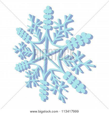 Snowflaked cartoon icon
