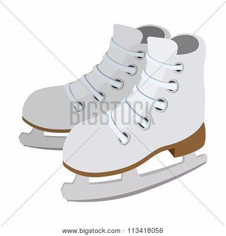 Pair of skates cartoon icon