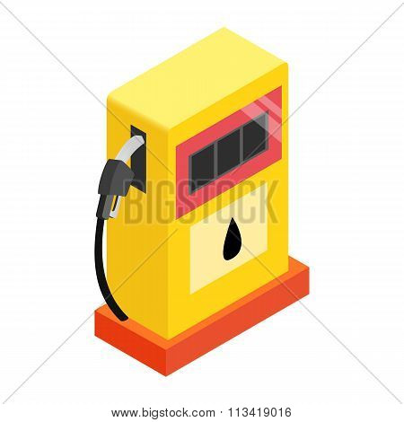 Gas station isometric 3d icon