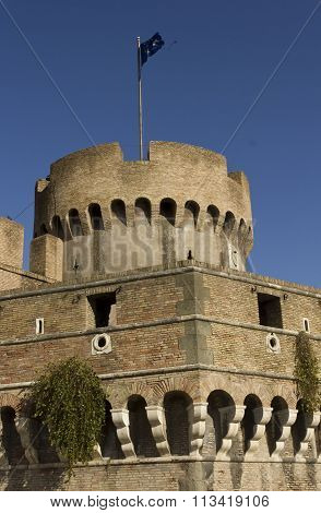 Architectural Close Up Of Castel Sant'angelo