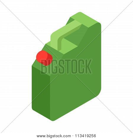Jerrycan oil isometric 3d icon
