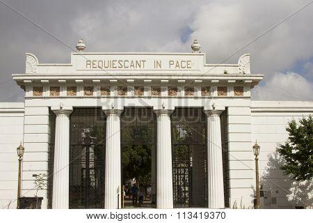 Entrance To Recoleta Cemetery, Buenos Aires, Argentina