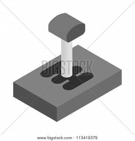 Gear stick isometric 3d icon