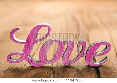 The Wooden Word Love