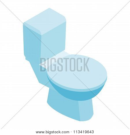 Toilet pan with closed seat isometric 3d icon