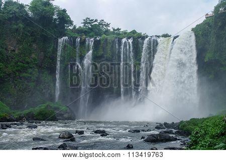 Waterfall Salto De Eyipantla, San Andres Tuxtla (mexico)