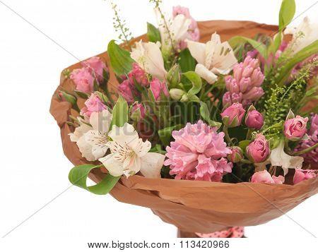 Spring sweet hyacinth alstroemeria bouquet