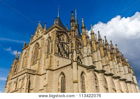 Top Of St.barbara's Church (cathedral)-kutna Hora