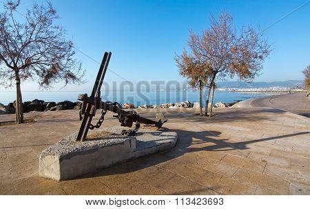 Anchor Sculpture In Molinar