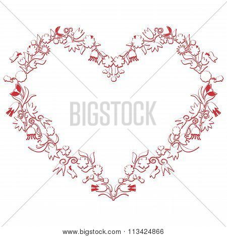 Valentines Love Heart Shape With Drawing3D Effect.eps