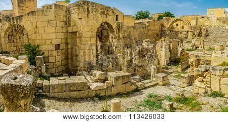 The Roman Baths Of El Kef