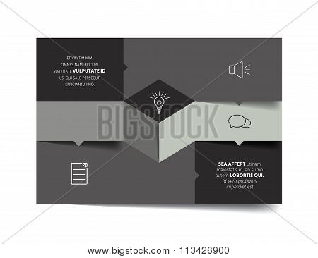 Square Template Infographic Banner Diagram.