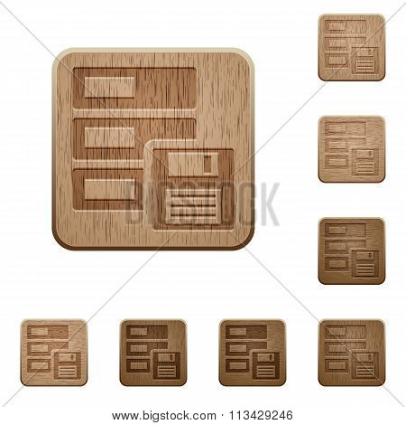 Backup Wooden Buttons