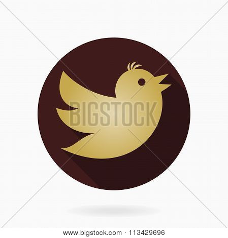 Flying Bird Flat Icon