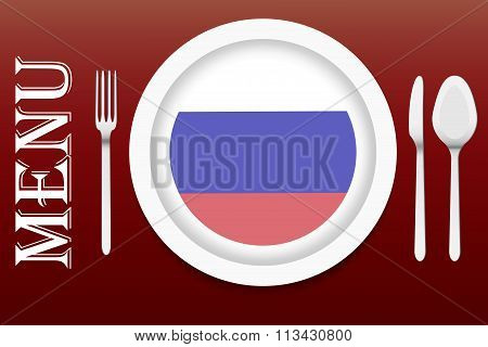 Ready For Serving Russian Cuisine Vector