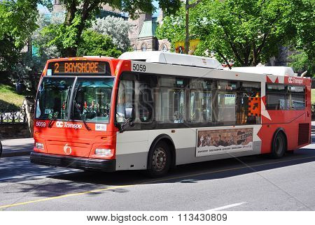 OC Transpo Bus in downtown Ottawa
