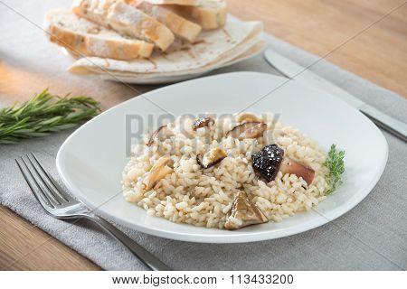 italian risotto with porcini mushrooms
