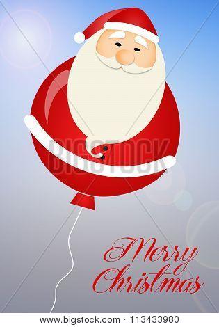 Santa Claus Balloon In The Sky