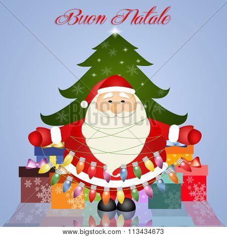 Santa Claus Wish Merry Christmas