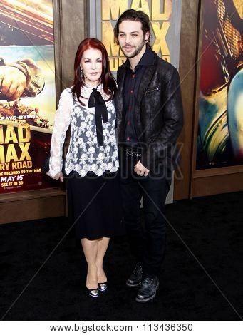 Priscilla Presley and Navarone Garibaldi at the Los Angeles premiere of