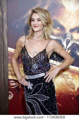 Rosie Huntington-Whiteley at the Los Angeles premiere of