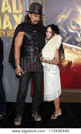 Jason Momoa and Lisa Bonet at the Los Angeles premiere of