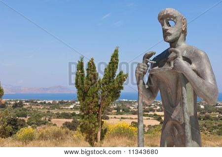 Statue Of Asclepius, Kos, Greece