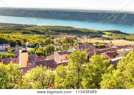 Aiguines Village And Sainte Croix Lake-france