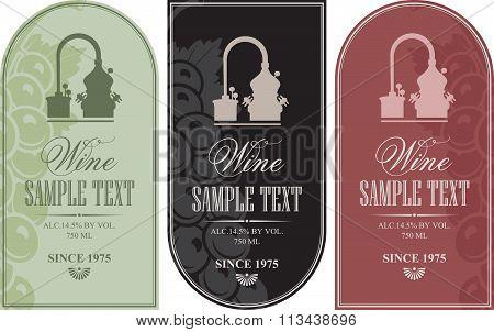 Set Label For Wine