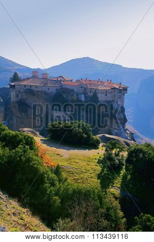 Varlaam Monastery, Meteora, Greece, View From Mega Monastery