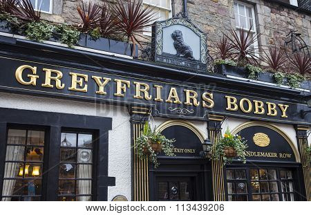 Greyfriars Bobby Public House In Edinburgh