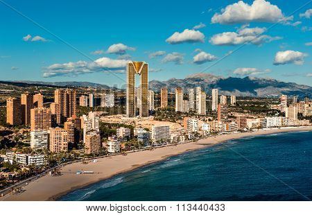 Coastline Of A Benidorm City