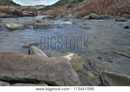 River mountains and rocks