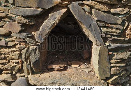 Forgotten antique stone oven